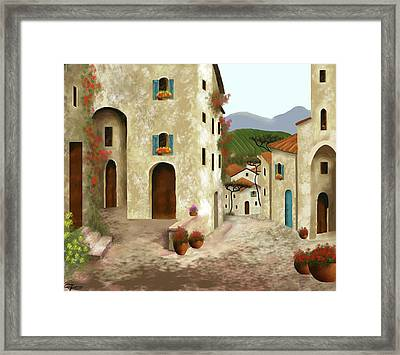 side streets of Tuscany Framed Print