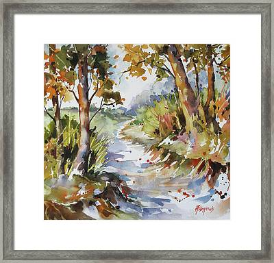 Side Track Framed Print