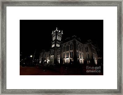Side View Erie County Hall Framed Print by Daniel J Ruggiero