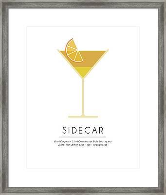 Sidecar Classic Cocktail Minimalist Print Framed Print