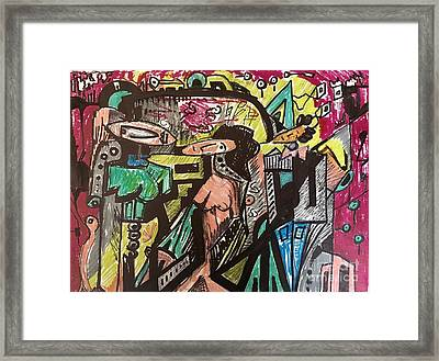 Sided Society Framed Print