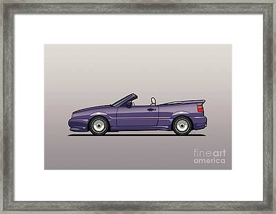 Sideview Of An Vw Corrado Convertible Conversion By German Aftermarket And Tuning Specialist Zender  Framed Print by Monkey Crisis On Mars
