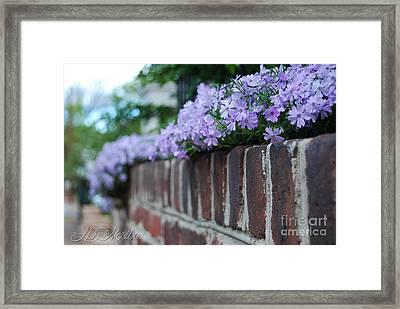 Sidewalk Art Framed Print