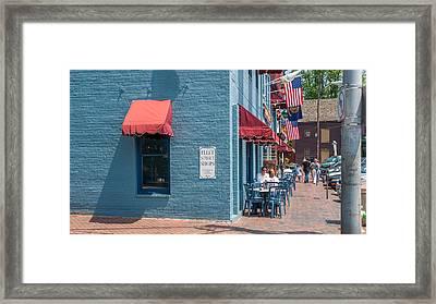 Sidewalk Cafe Annapolis Framed Print