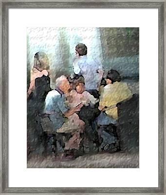 Sidewalk Cafe Framed Print by Ken Barker