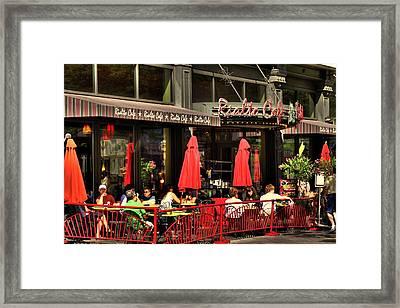 Sidewalk Cafe Framed Print by Laurie Prentice