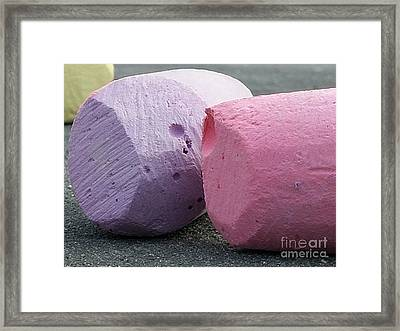 Sidewalk Chalk Collection Photo 1 Framed Print