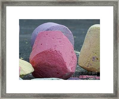 Sidewalk Chalk Collection Photo 2 Framed Print