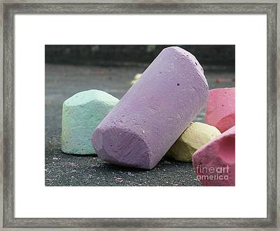 Sidewalk Chalk Collection Photo 3 Framed Print
