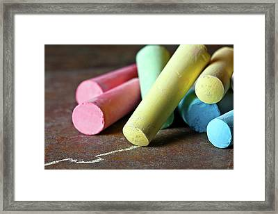 Sidewalk Chalk I Framed Print