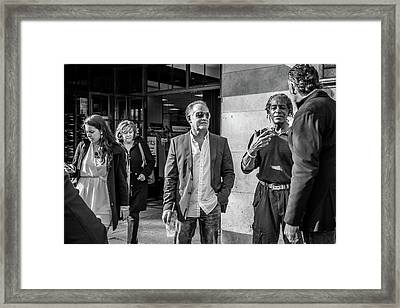 Sidewalk Circulation Framed Print