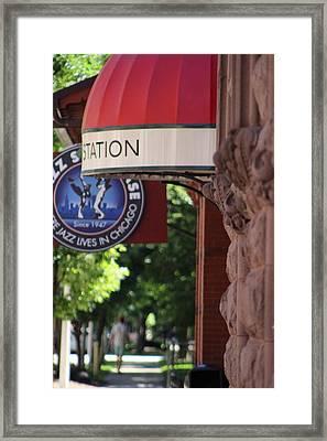 Sidewalk View Jazz Station  Framed Print