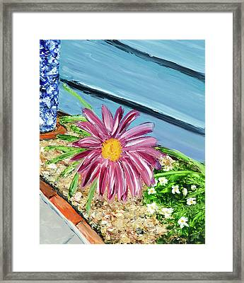 Sidewalk View Framed Print