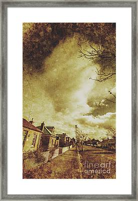 Sidewalks And Paper Villages Framed Print by Jorgo Photography - Wall Art Gallery
