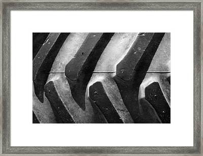 Sideways Tractor Tread Framed Print