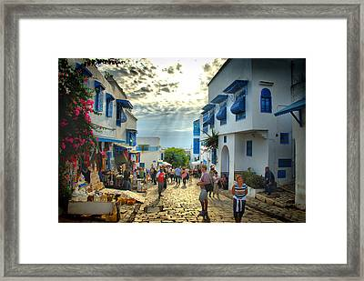Sidi Bou Said Sunset Framed Print by Aleksey Napolskih
