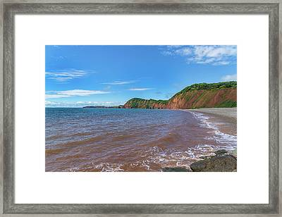 Framed Print featuring the photograph Sidmouth Jurassic Coast by Scott Carruthers
