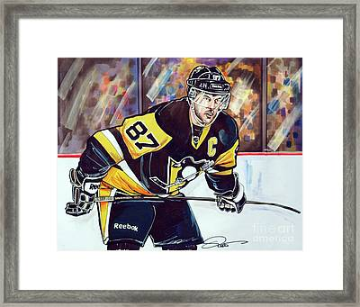 Sidney Crosby 2016 Nhl Stanley Cup  Playoffs Framed Print by Dave Olsen
