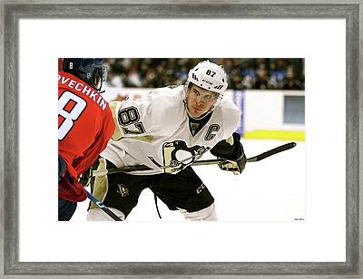Sidney Crosby, Pittsburg Penguins, The Captain, Number 87 Framed Print by Thomas Pollart