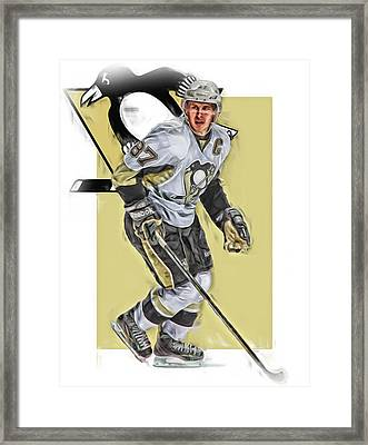 Sidney Crosby Pittsburgh Penguins Oil Art Framed Print