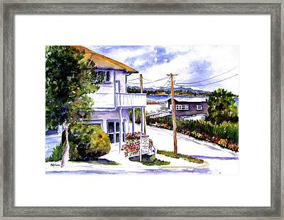 Framed Print featuring the painting Sidney Gallery by Marti Green