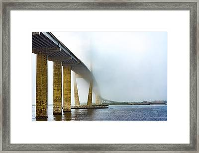 Sidney Lanier Bridge Under Fog Framed Print