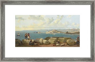 Sidon Looking Towards The Range Framed Print
