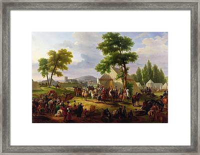 Siege Of Paris By Henri Iv Framed Print by Guillaume Frederic Ronmy