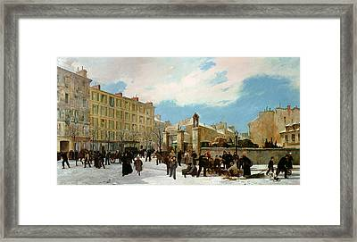Siege Of Paris Framed Print by Jacques Guiaud
