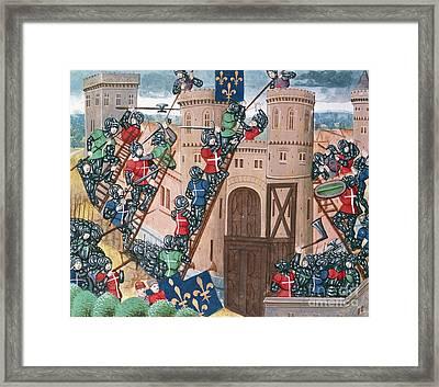 Siege Of Pontaudemer, Illustration Framed Print