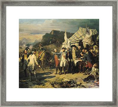 Siege Of Yorktown Framed Print