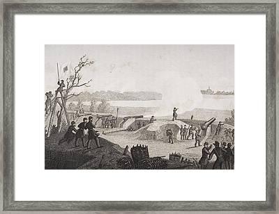 Siege Of Yorktown Virginia 1862. Drawn Framed Print by Vintage Design Pics
