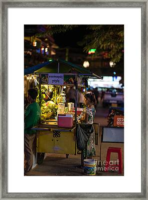 Siem Reap Fruit Stand Framed Print