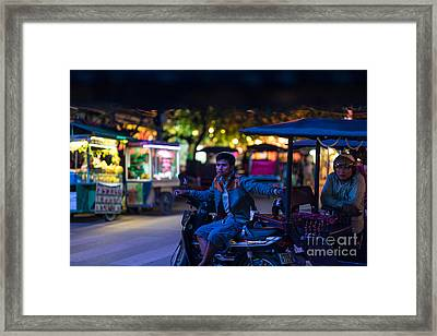 Siem Reap Night Tuk Tuk Driver Framed Print