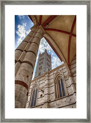 Siena Cathedral Tower Framed By Arch Framed Print