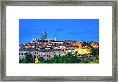 Framed Print featuring the photograph Siena by Fabrizio Troiani