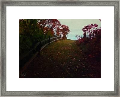 Siena In The Fall Framed Print