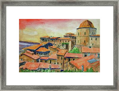 Siena Italy Framed Print by Ron Stephens