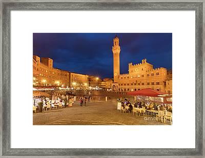 Siena Piazza Framed Print