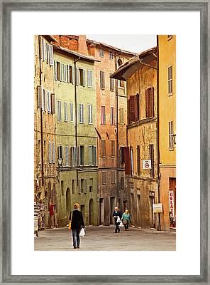 Siena Shoppers Framed Print by Jill Love