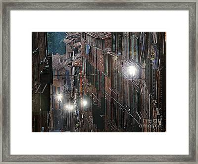 Siena Street Lamps Framed Print by Jim Wright