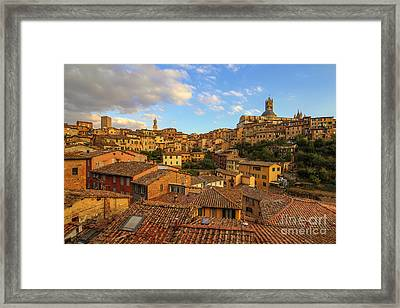 Siena Sunset Framed Print