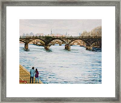 Siene In Early December Framed Print by Hilary England