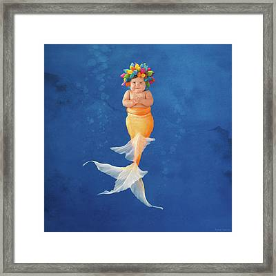 Sienna As A Mermaid Framed Print