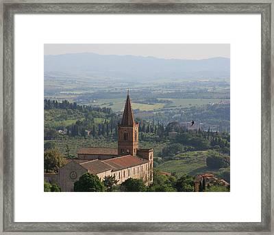 Sienna Cathedral Framed Print by Tom Reynen