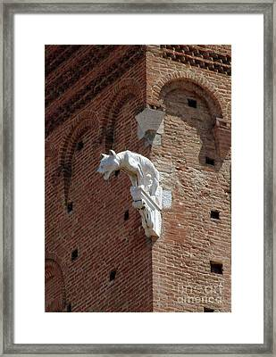 Sienna Gargoyle Framed Print by Georgia Sheron