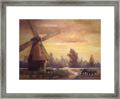 Sienna Mill Framed Print by Ruth Stromswold