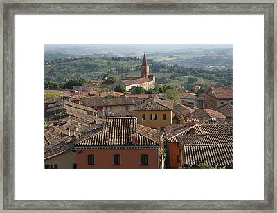 Sienna Rooftops Framed Print by Tom Reynen