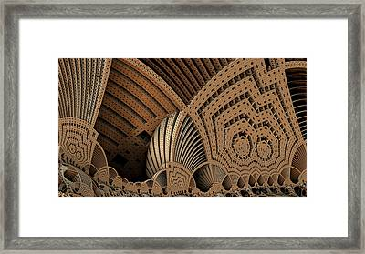 Sierpinski Menger Auditorium Framed Print