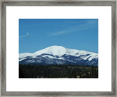 Art print POSTER CANVAS Sierra Blanca Peak in White Mountain Wilderness